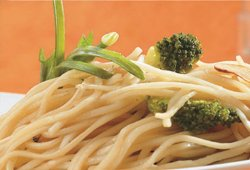 Broccoli and garlic noodles